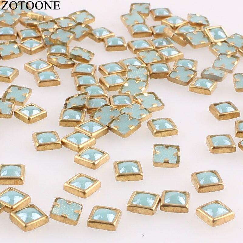 ZOTOONE 100pcs 4 4mm DMC Rhinestones Square Diamonds Crystals for Decoration  Square Diamond Stones Rhinestones for Embroidery D-in Rhinestones from Home  ... 5b8dfdbcc2b9