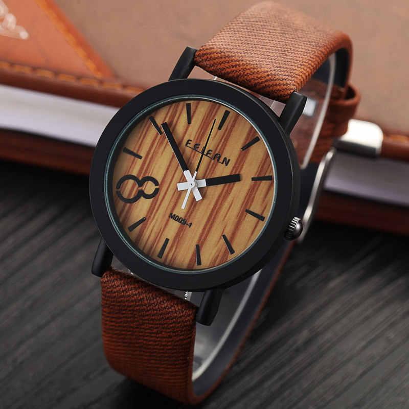 174bf0e3 ... Моделирование деревянный Relojes кварцевые мужские часы в повседневном  стиле деревянный цвет кожаный ремешок часы Дерево мужской ...