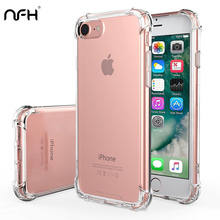 """NFH прозрачный мягкий Силиконовый противоударный чехол для iPhone 7 iPhone 8 тонкий защитный чехол для телефона на iPhone 7 4,"""" Чехол"""