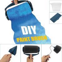 LanLan 5PCS DIY Multifunctional Paint Roller Brush Kit Set Wall Brushes Tackle Roll Decorative Painting Tool