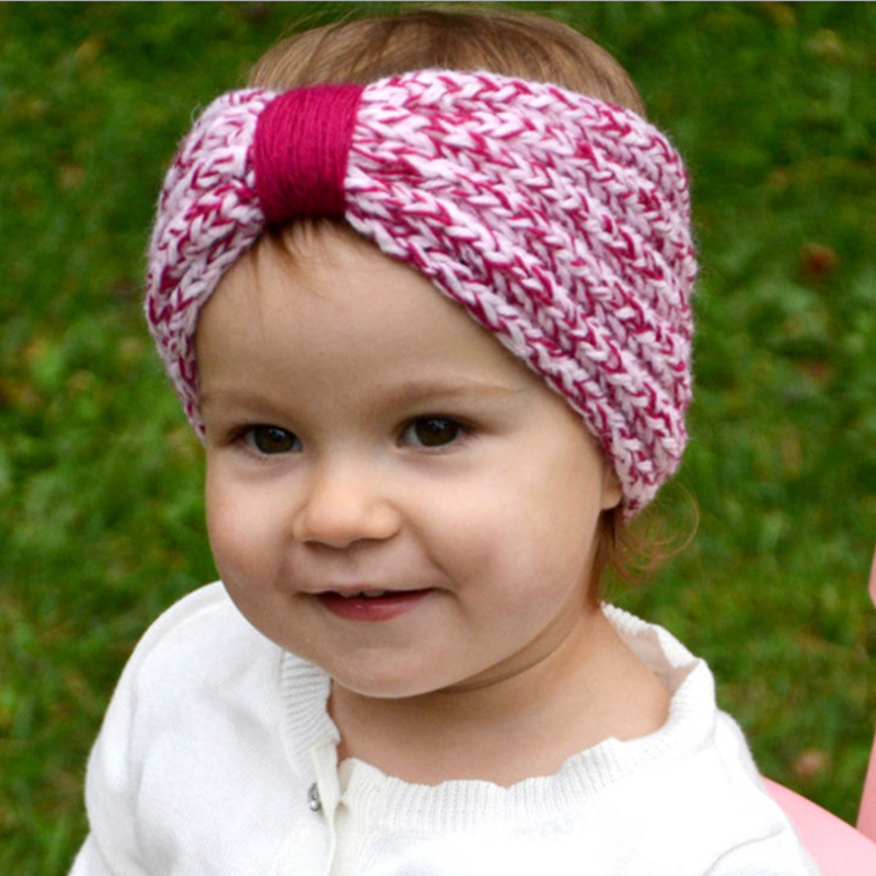 Girls kids crochet turban headband warm knot knit for Ideen strickliesel