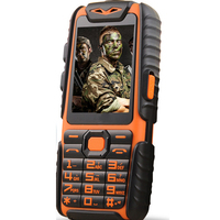 WaterProof A6 Rugged Power Bank Phone With 2 4 TFT Shockproof Loud Speaker Strong Flashlight Dual