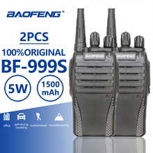 Two Piece 5W 1500mAh UHF 400-470MHz Baofeng BF-999S Portable Walkie Talkie Amador Ham Radio Walky Talky 999 CB Comunicador