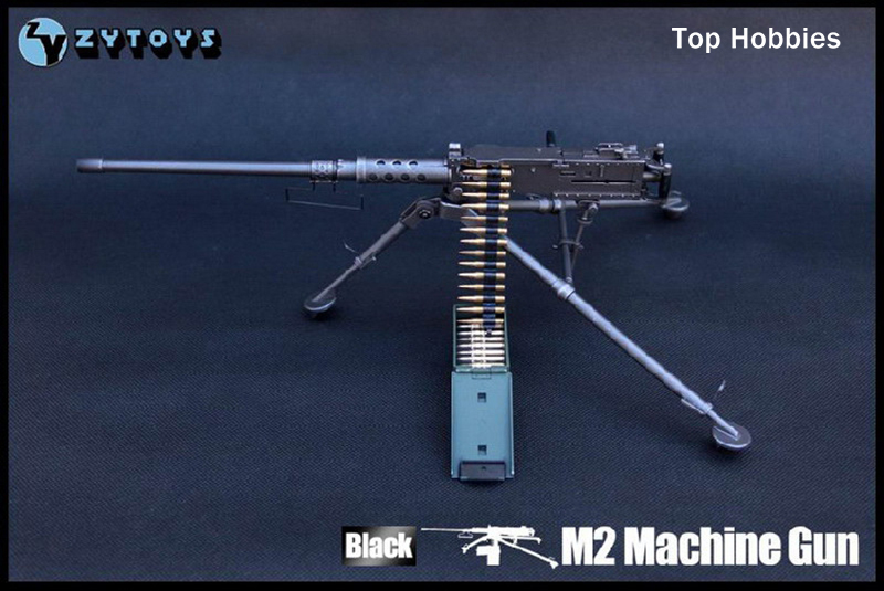 купить 2017 ZYToys 1/6 Scale Model US Army Browning M2 Machine Gun Black Flexible Weapon Toys For 12