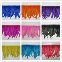 35 40cm Rooster Tail Trim Coque Feather Trimming/Ribbon For Crafts Dress Skirt Carnival Costumes Plumes wedding decoration