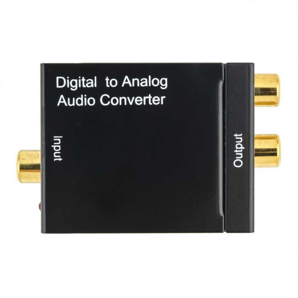 Adaptador Conversor de sinal Digital Óptica Coaxial RCA Toslink Sinal de Áudio Analógico Digital Ouro Cabos Adaptores Projetor