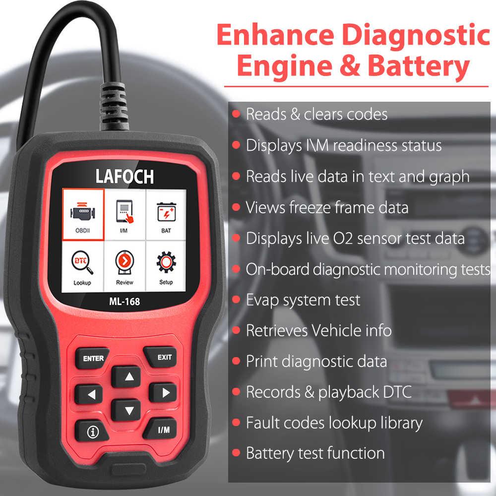 LAFOCH OM168 OBD2 Automotive Scanner Car Diagnostic Tool for Engine