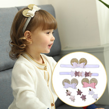 Korea Cute Crown Hair Accessories For Girls Star Hairpins  Cartoon Golden Mickey Headband Glitter Hairband Rainbow