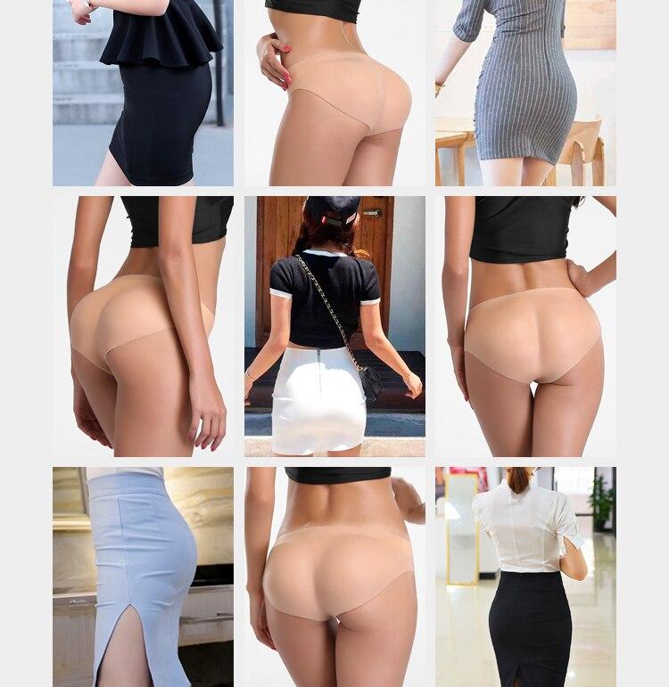 Бесшовное сексуальное женское белье для женщин, силиконовые набедренные штаны, усилитель ягодиц, пуш ап нижнее белье, сексуальные трусики, поддельные задницы, силиконовые женские трусики - 4