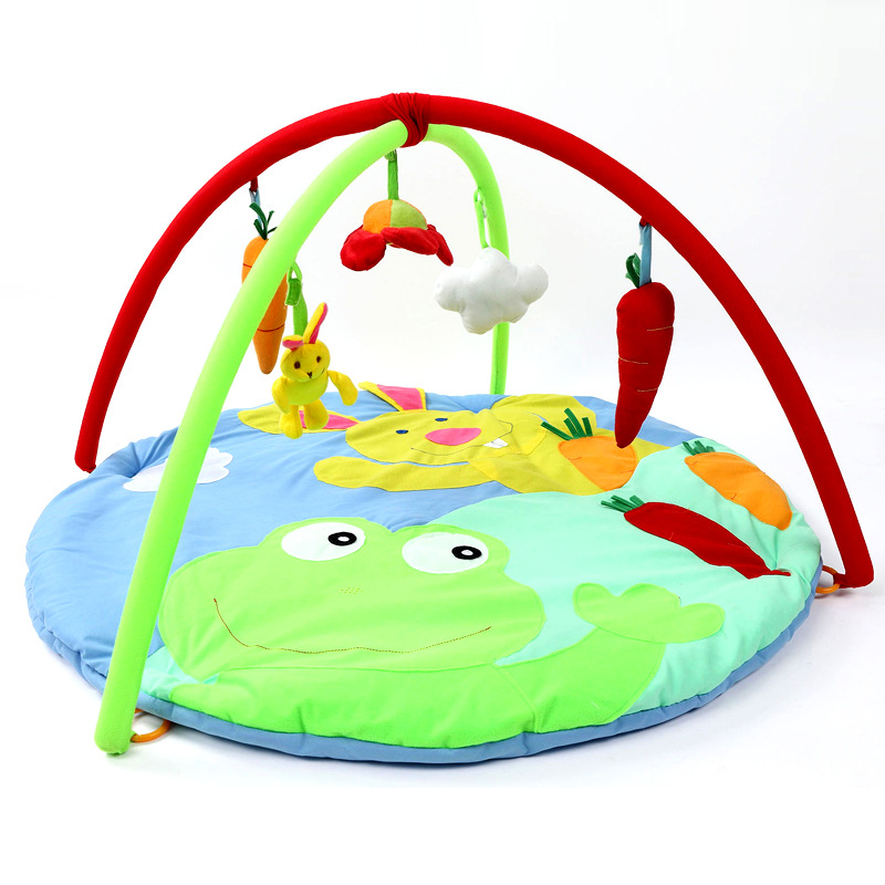 New 0 1 Year Fun Cartoon Rabbit Frog Baby Play Mats Baby Kids Educational Crawling Pad Play Activity Gym Toy Blanket Best Gifts-In Play Mats From -4745
