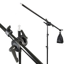 Cheaper 75CM-135CM Phototography Crossbar Arm Light Stand Sandbag Kit For Studio  Telescopic Photo Aluminum alloy