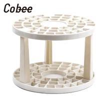 Держатель для ручек круглой формы с 49 отверстиями, сборная коробка для хранения, многофункциональный держатель для кистей, принадлежности для художественной живописи* 1 Набор