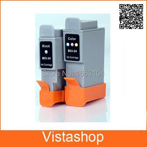 Vilaxh 3 ensemble cartouche dencre Compatible pour Canon BCI-24 pour Canon BCI 24 i250 i320 i350 i450 i470 i455 i475 imprimante