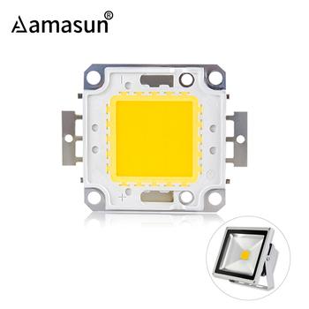 Koraliki LED o wysokiej jasności Chip 10W 20W 30W 50W 100W LED COB Chip biały ciepły biały wysokiej jakości dla majsterkowiczów światło halogenowe reflektor tanie i dobre opinie Aamasun SQUARE 10W 20W 30W 50W 100W COB Chip work in 9-12V size 2*2 9cm work in 30-36V size 4 6*5 2cm led chip COB cob led beads