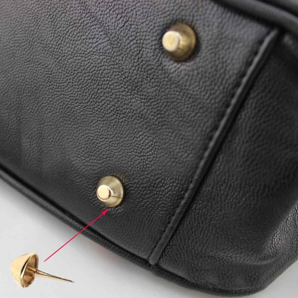 Смешанные 20 шт/партия 12 мм Металлические ремесла ножки для Сумочки Заклепки Шпильки пирсинг для сумочки рокерские заклепки Сумка Кожа DIY аксессуары