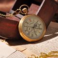 Royal London Eyes Gold Luxury Men Gift Pocket Watch Mechanical Hand Winding Necklace Chain Cool Deisgner Steampunk FOB Watch