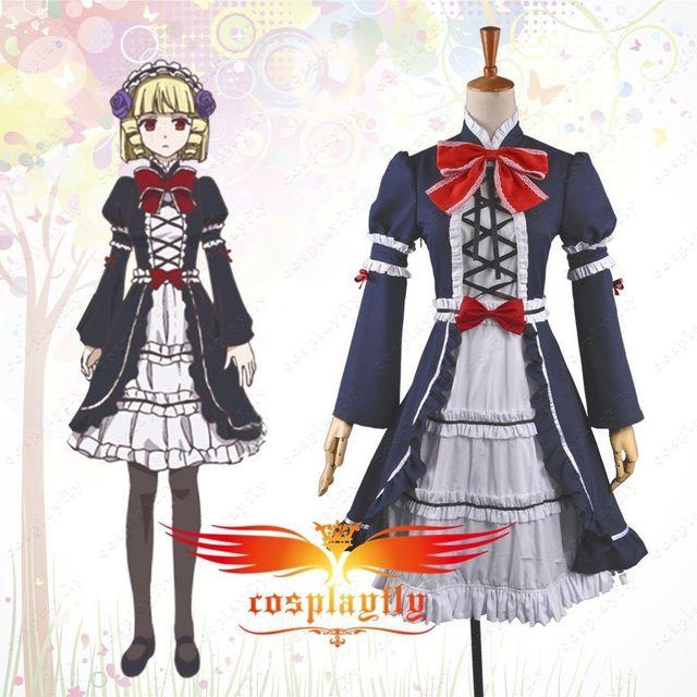 Anime Brynhildr in the Darkness Kana Tachibana Dress Cosplay Costume Custom  Made Any Size Long Sleeve