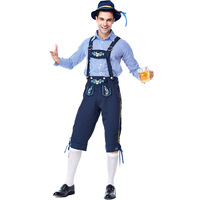German Bavarian Festival Oktoberfest Beer Man Cosplay Suit Carnival Fancy Party Dress Up Outfit