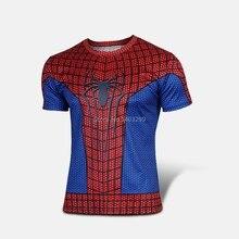 Clearance! Short sleeve Superhero T shirt Man Women Costume Play COSPLAY Boy Children Quick Dry Bodybuilding Big size XS-4XL