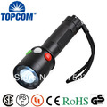 [Free ship]Rechargeable red/green/white LED 5W CREE LED signal flashlight