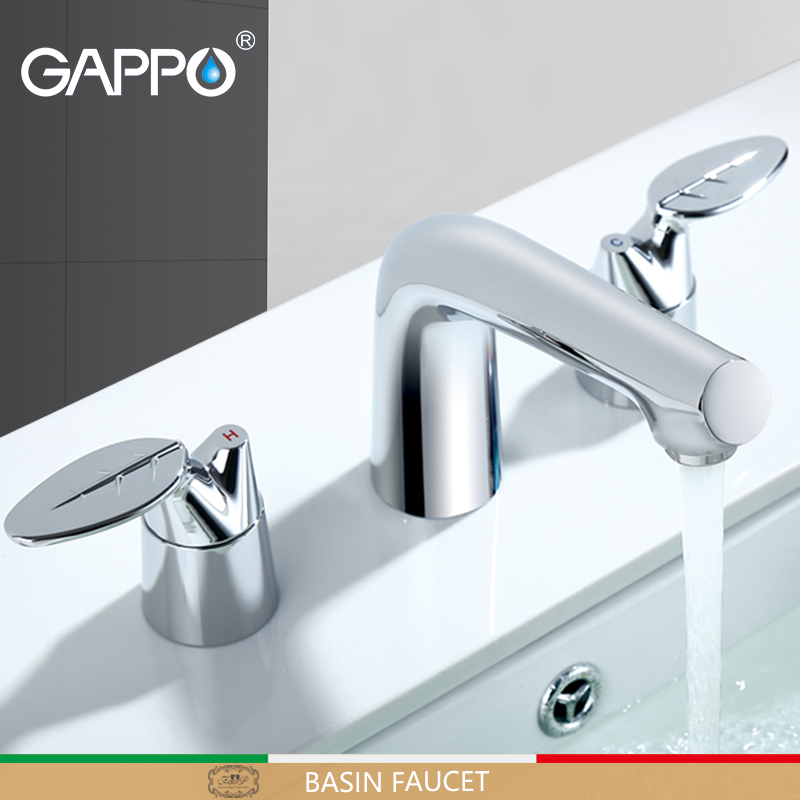 GAPPO Basin Faucet basin mixer tap brass faucet bathroom sink tap deck mounted faucet water kranen torneira do anheiro gappo water tap bathroom deck mount basin sink faucet torneira cold hot water mixer tap grifo bathroom faucet in hand shower set