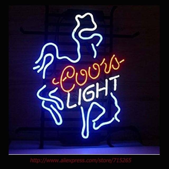 Coors light cowboy neon sign ride horse neon bulbs night light coors light cowboy neon sign ride horse neon bulbs night light real glass tube handcrafted decorate aloadofball Images