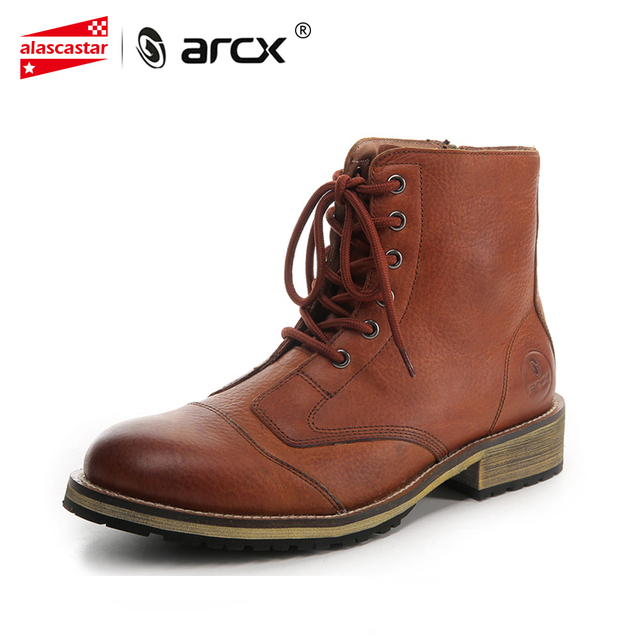Arcx Motorcycle Boots Leather Riding Casual Shoes Knight Boots Men