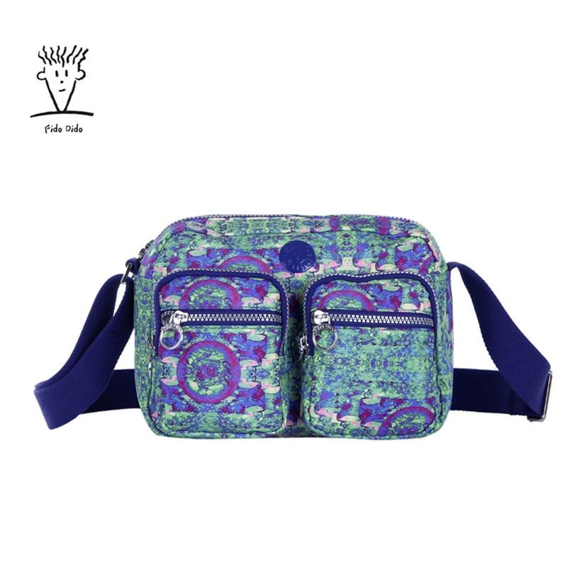 Fido Dido Famous Brand Design Women Messenger Bags Nylon Casual Shoulder bag Floral Handbags Zipper Crossbody Bag for Woman!! fido