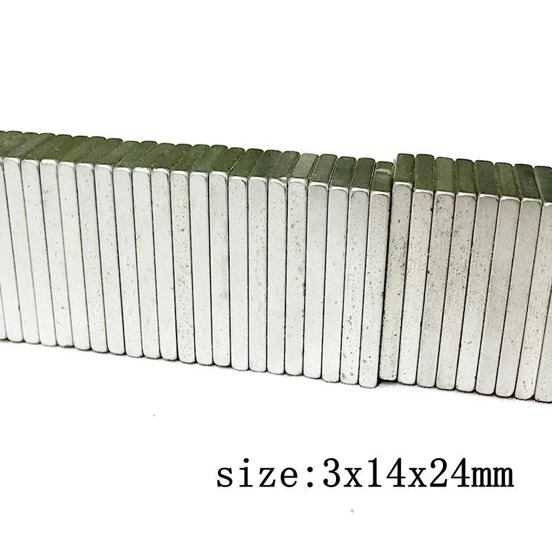 ENERGETIC 40PCS Powerful Neodymium Block Magnets N52 3x14x24mm High Temp Magnets Rare Earth Magnets for 3D