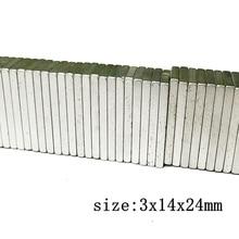 Энергетические 40 шт. мощные неодимовые магниты N52 3x14x24 мм, высокотемпературные магниты, редкоземельные магниты для 3D-принтера
