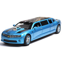 Ant Bumblebee alloy cool car model pull back car model sound and light car model children toys hot sale plus long car decoration