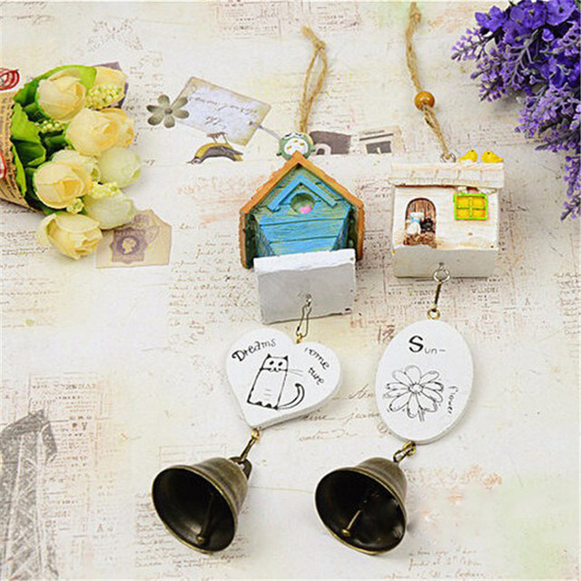 Home Garden Ornaments Bird House Cage Home Ornament Wind Chimes Baby Children Gift Pastoral Hanging Home Decoration QW877384