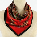 High-Quality Women's 100% Silk Scarves, Small Square Scarves Female, Fine Silk Printed Scarves, Size 55 * 55 Cm