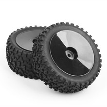 RC 1/10 Scale Off-Road Buggy Car Tires and Wheel 25026+27011 Model Toys Accessory