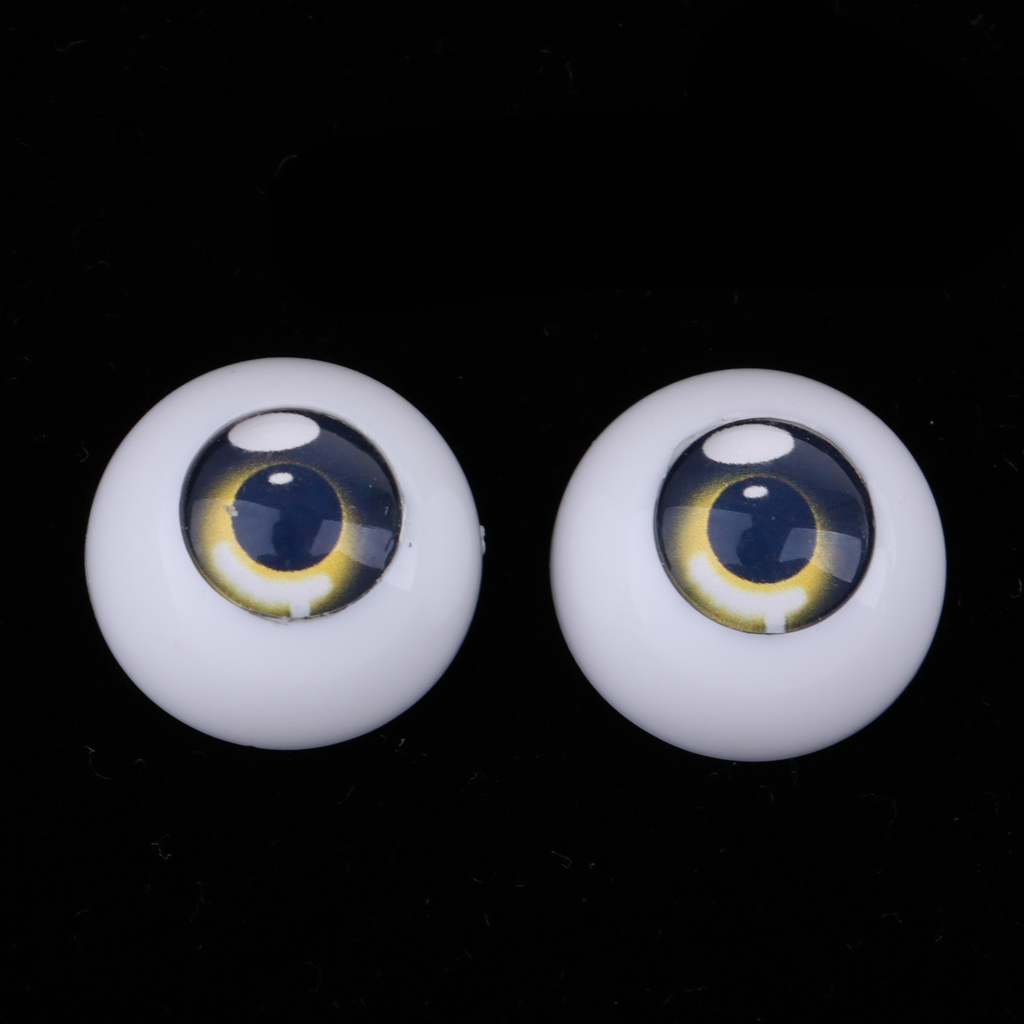 18mm Safety <font><b>Eyes</b></font> Acrylic Eyeballs for <font><b>1/3</b></font> <font><b>BJD</b></font> Night Lolita Dollfie Bears DIY Making Accessories image
