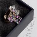 Estilo AAA Áustria Anéis de Cristal para As Mulheres da Cor do Ouro Ajustável Anel Aberto Anéis De Imitação de Diamante Moda Feminina Jóias rig-e61