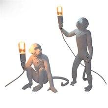 Modern Art Monkey Table Lamps Loft Style Handmade Resin Bedside Lights for Home Room Bedroom Study Luminaire Avize