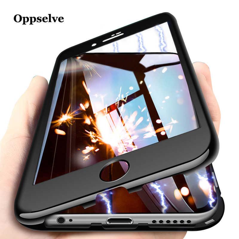 Ultra manyetik adsorpsiyon iphone için kılıf X 8 7 6 6S S artı lüks 360 derece tam vücut mıknatıs kılıf temperli cam filmi PC kapak