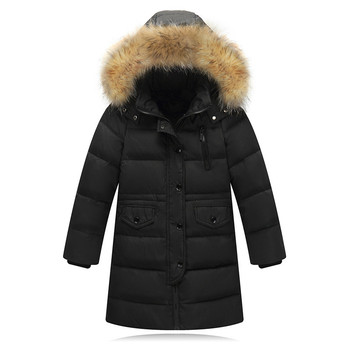 2020 Winter Down New Korean Edition Thickened  Heating Large-collar Middle-sized  Outerwear Fashion Boys and Girls Down Garments