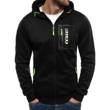 Zogaa Men hoodies Black Gray hooded sweatshirts Zipper patchwork casual sportswear male clothing Young Fashion Tracksuit men
