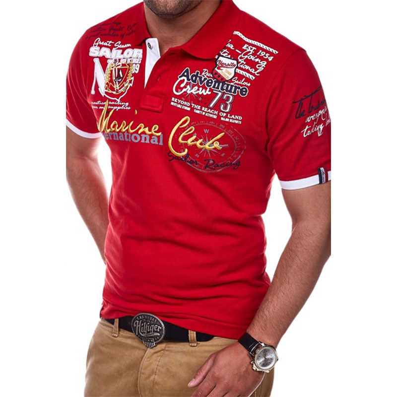 Men Short Sleeve Polo Shirt Casual Shirts Slim Fit Cotton Men's Polo Shirt Hot Sale 4