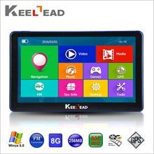 KEELEAD Capacitiva de 7 pulgadas HD Gps de Navegación Bluetooth AVIN FM pantalla 8 GB/256 MB Camión Vehículo GPS Europa Sat nav de Por Vida mapa