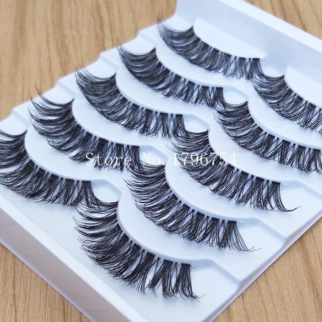 Thick False Eyelashes Messy Cross Thick Natural Fake Eye Lashes Professional Makeup Tips Bigeye Makeup Tool Long False EyeLashes 1