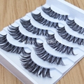 Thick False Eyelashes Messy Cross Thick Natural Fake Eye Lashes Professional Makeup Tips Bigeye Makeup Tool Long False EyeLashes