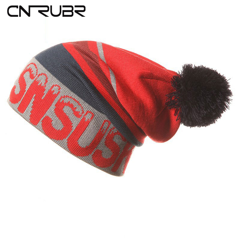 CN-RUBR Top Quality 2016 New Fashion Men Women Winter Beanies Slouch Unisex Knitted Hats Skating Skullies  Fans Caps cn rubr high quality casual hat winter skating unisex caps warm dot knitting beanies christmas gifts for women men
