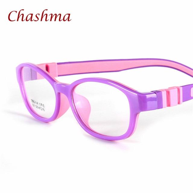 bcf4c0a0585 Chashma Children Round Rubber Eyeglasses Kids Flexible Glasses Frames for  Girls and Boys