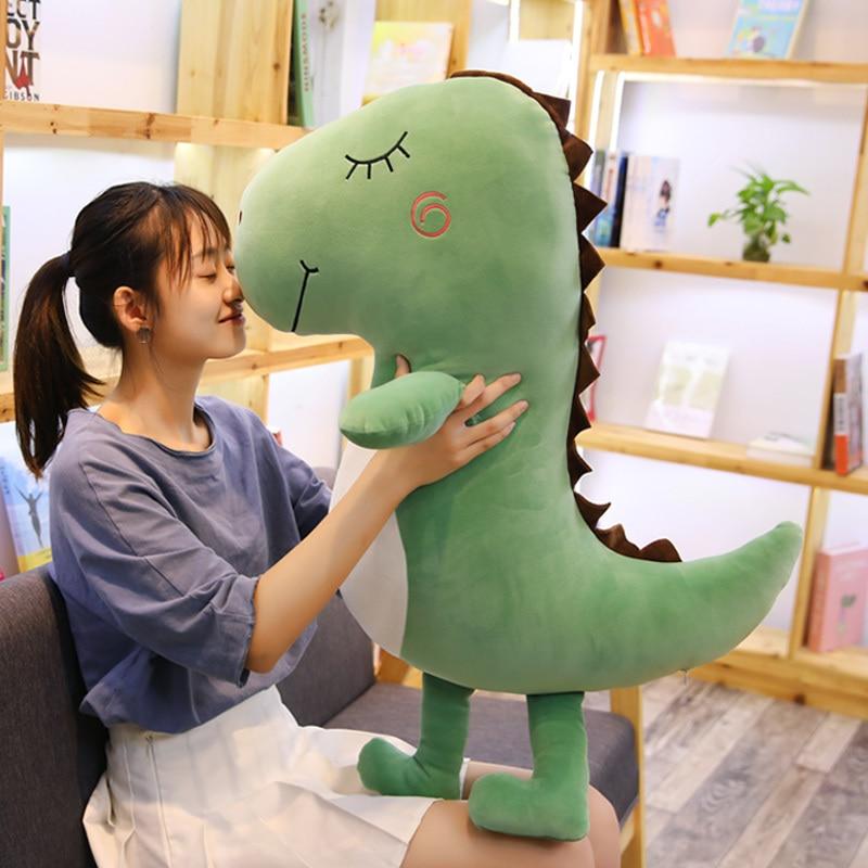 Новое поступление динозавр плюшевая игрушка супер мягкий динозавр кукла красный зеленый цвет 60 см 80 см Большой размер подарок для влюбленных и девочек