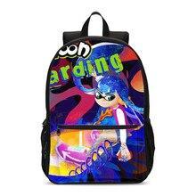 Backpacks For Boys Girls Cool Anime Cartoon Splatoon Letter 3D Printing School Bag Travel Laptop Backbag Bookbag Mochila Escolar