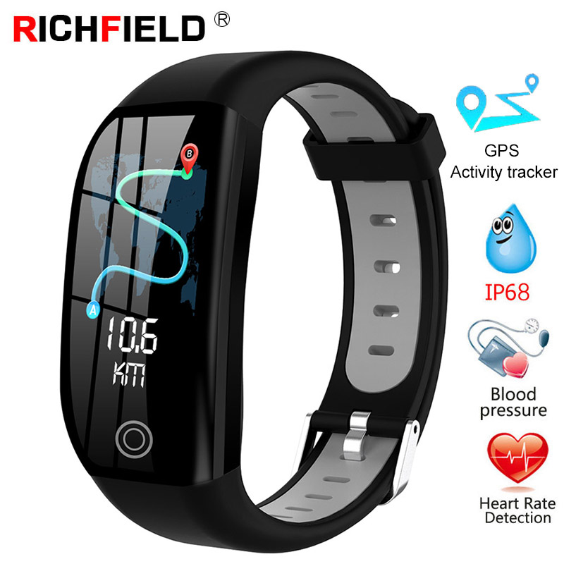 F21 Smart Bracelet GPS Fitness Activity Tracker Blood Pressure Watch Sleep Monitor IP68 Wristband Smart Band For Iphone Android