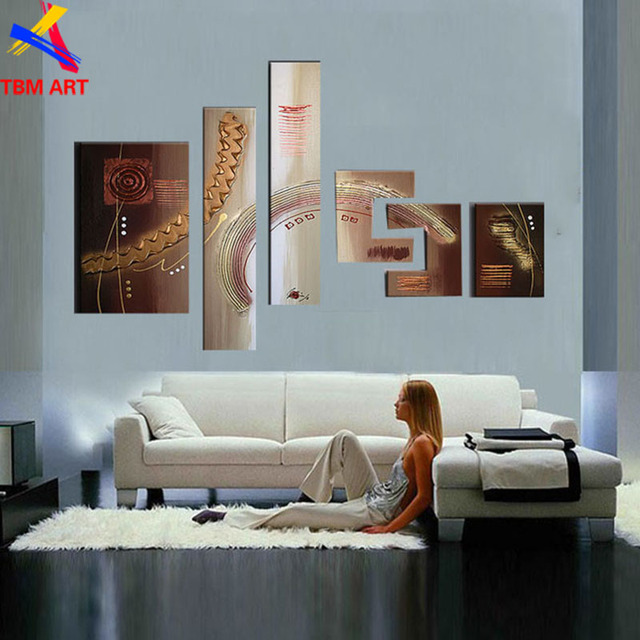 Thick Texture 6pcs Oversized Speical Design!! 100% Real Hand Painted Modern Abstract Oil Painting On Canvas Wall Art  JYJZ057